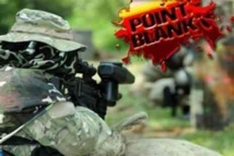 Point Blank Paintball - Paintballing For Up to Six With 100 Paintballs Each Plus Breakfast and Lunch - Save 93%