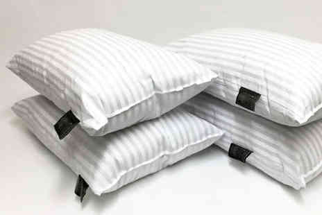 Direct Warehouse - Pack of 12 hotel quality striped bed pillows - Save 0%