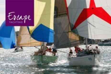 Escape Yachting - Solent Yacht Sail With On Board Champagne Reception Plus Lunch or Dinner - Save 84%