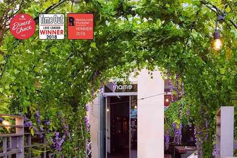 Inamo - Tapas dining in the Secret Garden for two people with a gin and tonic each - Save 63%