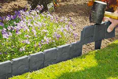 Domo Secret - 10 pack of stone effect lawn edging - Save 82%