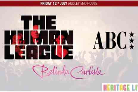 Heritage Live - One general admission standing ticket to The Human League, ABC and Melinda Carlisle on 12th July - Save 0%