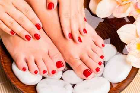 KG Salon - Gel Manicure, Pedicure or Both - Save 64%