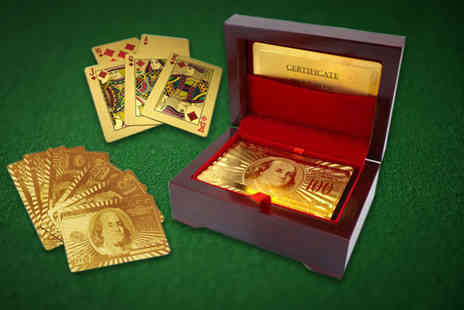 London Exchain Store - Pack of gold plated playing cards - Save 83%
