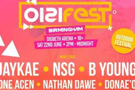 0121FEST 2019 - One or two general admission tickets on 22 June - Save 34%