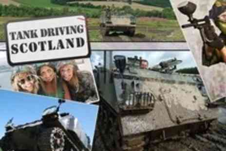 Tank Driving Scotland - Kids Tank Ride Plus Paintballing For Two - Save 77%