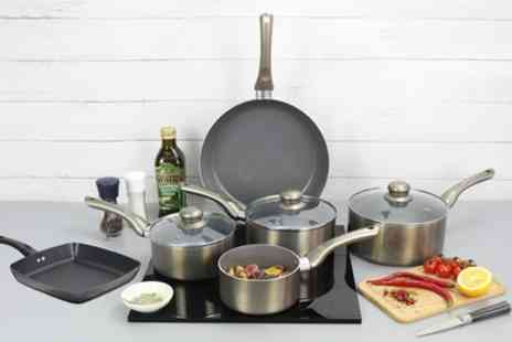 Groupon Goods Global GmbH - Davis and Grant Square Grill Pan or Two, Three or Five Piece Cookware Set - Save 58%