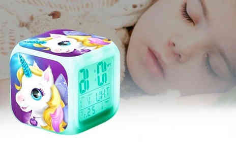 MBLogic - Led unicorn alarm clock choose from seven designs - Save 73%