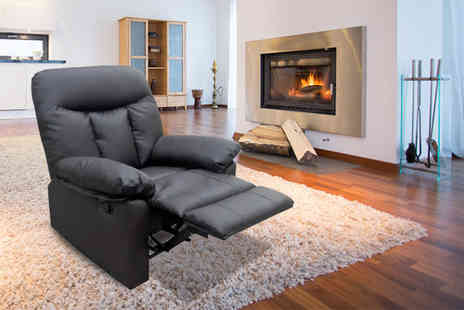 UK Furniture Zone - Leather recliner armchair choose from three designs - Save 61%