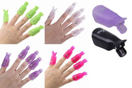 Wow What Who - A set of 10 nail art removal clips choose from eight colours - Save 87%