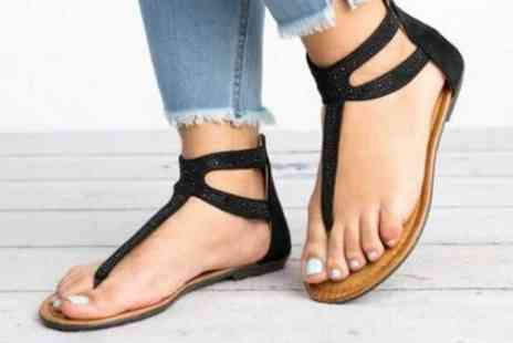 MBLogic - A pair of womens boho studded sandals choose from three colours - Save 73%