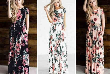 MBLogic - Floral print max dress Choose from five colours - Save 70%