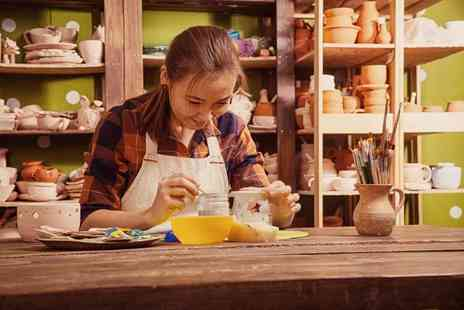 Doodle Alley - Pottery painting and afternoon tea for two people - Save 44%