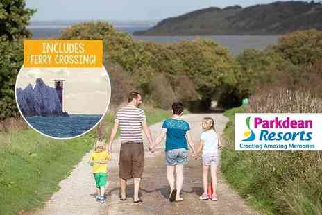 Parkdean Resorts - Three nights weekend or four nights midweek Isle of Wight self catered break for up to six people with return ferry transfer - Save 42%