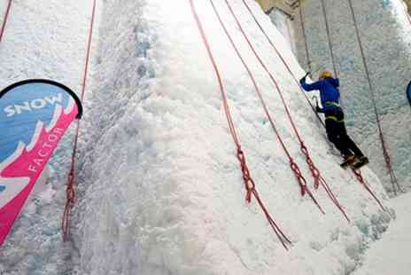 Snow Factor - Indoor Ice Wall Climbing for One or Two - Save 50%