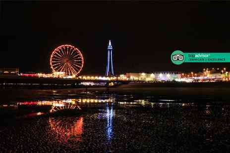 The Carousel - Overnight Blackpool stay for two people with two course dinner, bottle of Prosecco, breakfast, late check out and early check in - Save 47%
