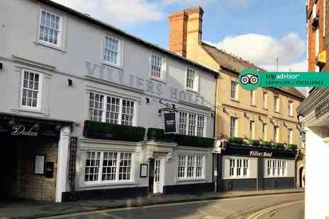 Villiers Hotel - Four Star Overnight Buckingham break for two people with three course dinner, breakfast and 1pm late check out - Save 40%