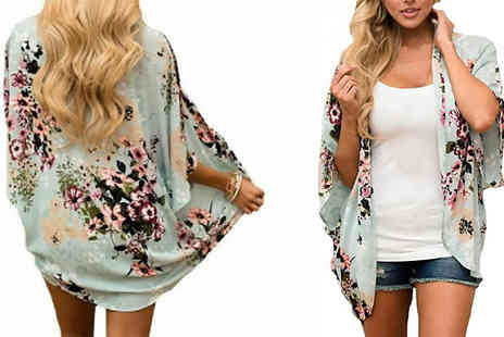 hey4beauty - Chiffon Chinoiserie Style Kimono 3 Colours and 4 Sizes - Save 67%