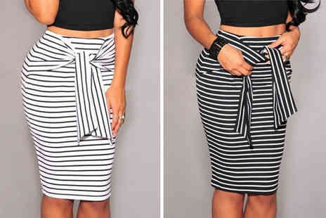Blu Fish - Striped bodycon skirt choose from two colours - Save 72%