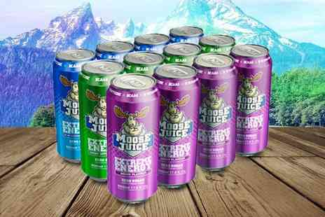 Muscle Moose - 12 pack of Moose Juice energy drinks choose from three flavours - Save 33%