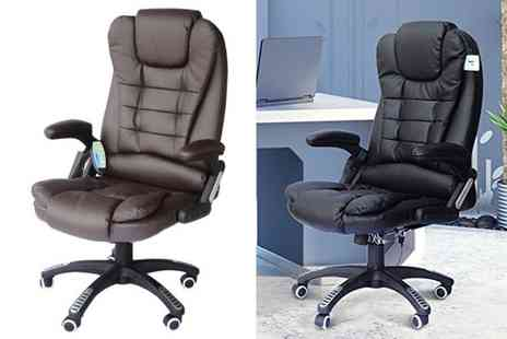 Mhstar - PU leather high back office chair choose from two colours - Save 53%