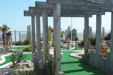 Greensward Cafe - Nine hole adventure golf game for two people or Family of two adults and two children - Save 50%