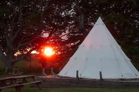 Pinewood Park - Two nights tipi tent stay for a family of four - Save 41%