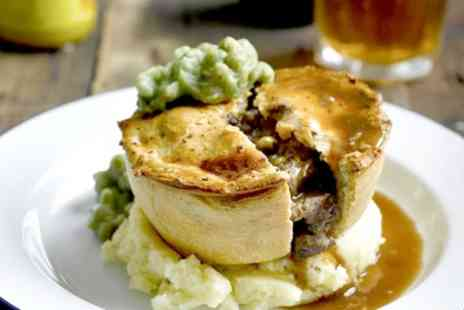King Charles Restaurant - Pie Meal and Beer for Two or Four - Save 43%