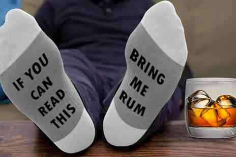 Groupon Goods Global GmbH - Flo Bring Me Rum Slogan Socks - Save 0%