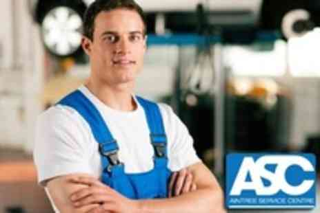 Aintree Service Centre - Vehicle Health Check Plus MOT - Save 71%