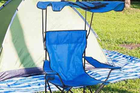 Mhstar - Folding camping and garden chair choose from two colours - Save 44%