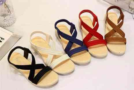 Wow What Who - Pair of elasticated strappy sandals choose from five colours - Save 63%