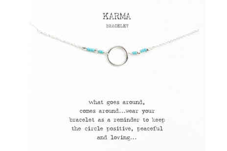 Solo Act - karma bracelet with quote card - Save 79%