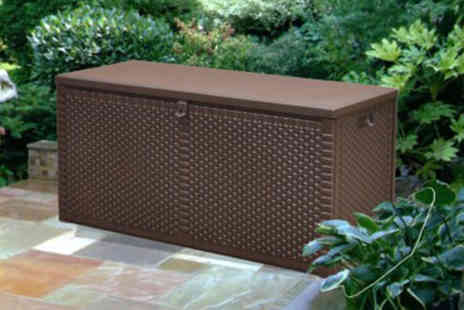 Groundlevel - Rattan garden storage box choose from two sizes - Save 52%