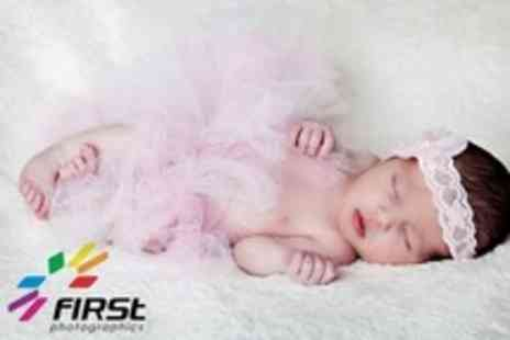 First Photographics - Bump and Baby Photo Shoots With Prints - Save 94%