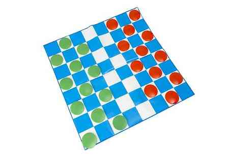 Home Season - Giant Draughts Garden Board Game - Save 75%
