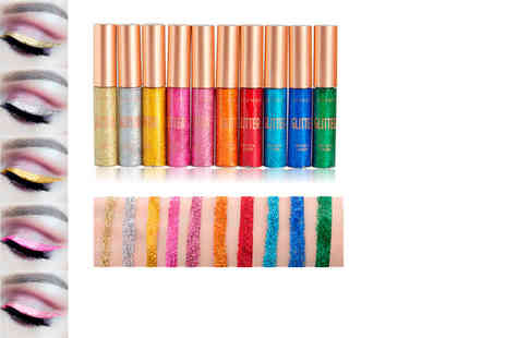 Litnfleek - Pack of 10 glitter eyeliners - Save 53%