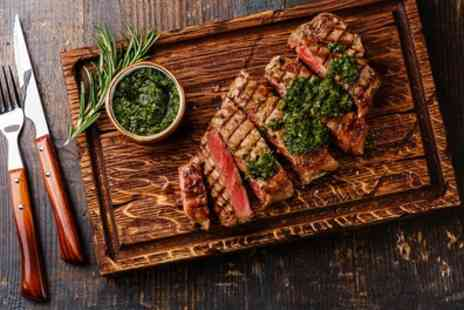 Ma Cuisine - Steak Patate 10oz Beef Rump Meal with Glass of Wine for Two or Four - Save 45%