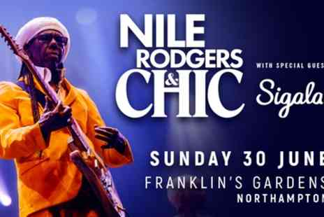 Nile Rodgers & Chic with Special Guest Sigala - Pitch Standing or Category C ticket on 30th June - Save 48%