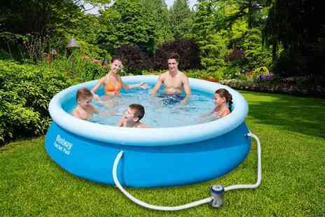 Eurotrade - Bestway 10ft fast set pool with filter pump - Save 63%
