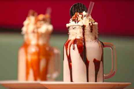 Dolcino - Gelato Milkshake and Cookie or Caramel Slice for One or Two - Save 42%