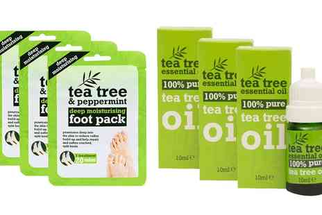 Groupon Goods Global GmbH - Three or Six Tea Tree Oil Foot Masks - Save 0%