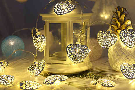 Best mall ever - Solar Powered Mini Metal Decorative Patio Lights Choose from 3 Designs - Save 67%