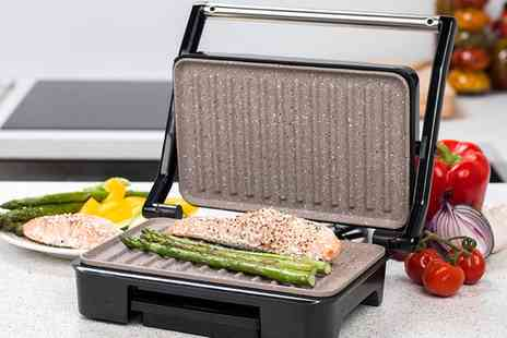 Groupon Goods Global GmbH - Salter EK2009 Marble Collection Ceramic Grill and Panini Maker - Save 0%