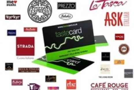 Tastecard - Annual Membership to tastecard - Save 50%