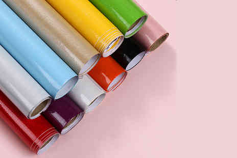 Bag a Bargain - Pearlized PVC Self Adhesive Vinyl Wallpaper in 11 Colours Pack of 1, 2, 3 or 4 - Save 75%