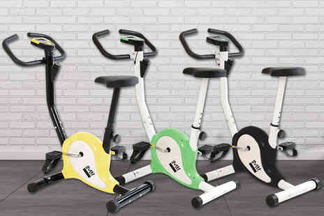 Games & Fitness - Compact exercise bike choose from four colours - Save 0%