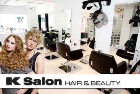 K Salon Hair & Beauty - Choice of Three Beauty Treatments Including Colour, Cut and Finish, Facial And More - Save 77%