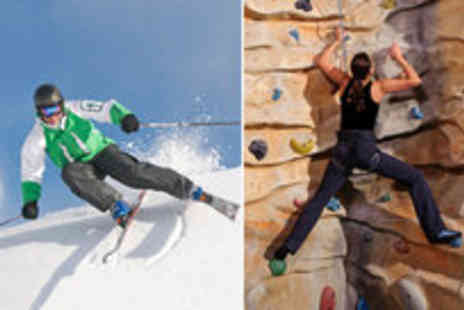 Chill Factore - Skiing or snowboarding and climbing taster lesson - Save 50%