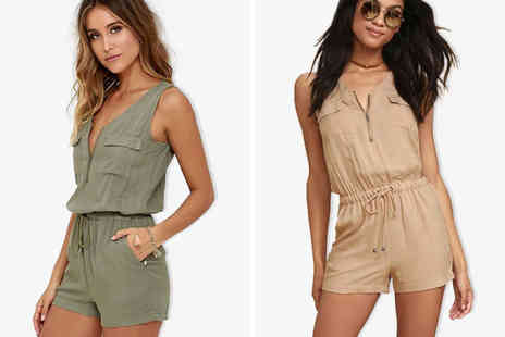 Blu Fish - Military playsuit choose from two colours - Save 78%